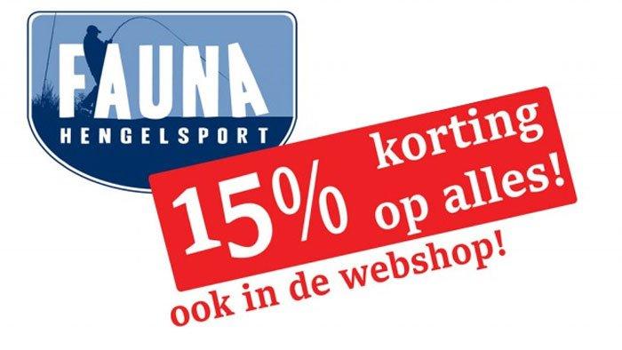 Upcoming: Open dagen met 15% korting bij Fauna Hengelsport!