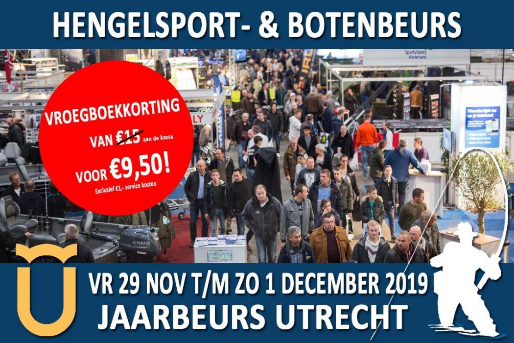 Hengelsport- en Botenbeurs 2019 – Online ticketverkoop gestart! NU: VROEGBOEKKORTING!